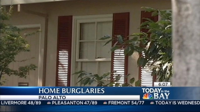 Residential burglaries are at a five-year high in Palo Alto, according to crime statistics released Tuesday. Neighbors are upset. Christie Smith reports.