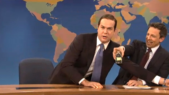 "Thirsty ""Rubio"" Has Another Drink on ""SNL"""
