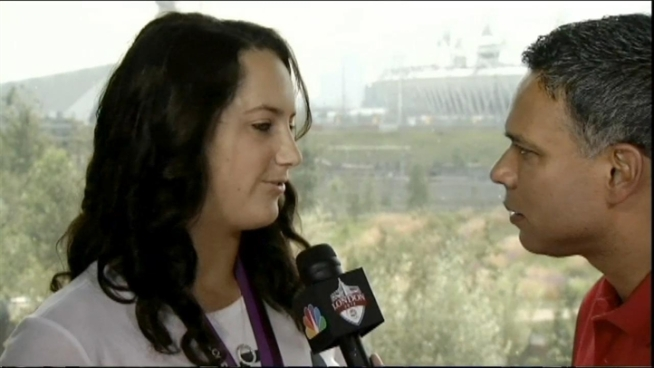 NBC Bay Area's Raj Mathai catches up with the Danville-raised Maggie Steffens, the day after her water polo team won gold at the Olympics.