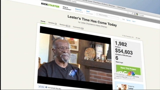 Lester Chambers has a Kickstarter campaign that raised enough money for him to record a new record, and now, thanks to the kind of outreach that comes with Reddit and Facebook followings, has enough direct contact with fans, NBC Bay Area's Scott Budman reports.