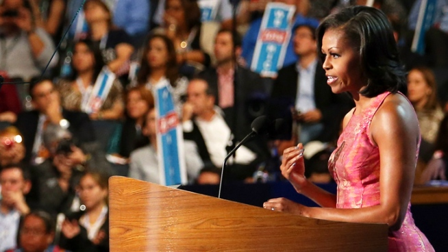 Michelle Obama speaks to Democratic National  Convention