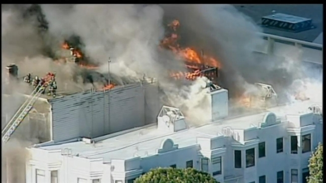 This is raw video of the fire in San Francisco.