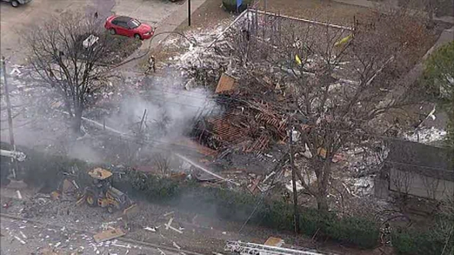 A man who was inside a Lewisville duplex when it exploded is in intensive care.