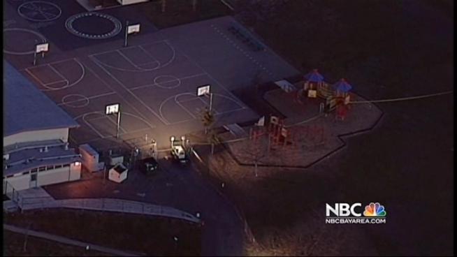 Hillside Elementary School in San Leandro is closed on Thursday after a young man was shot Wednesday night, according to Alameda County sheriff's deputies. Bob Redell reports.