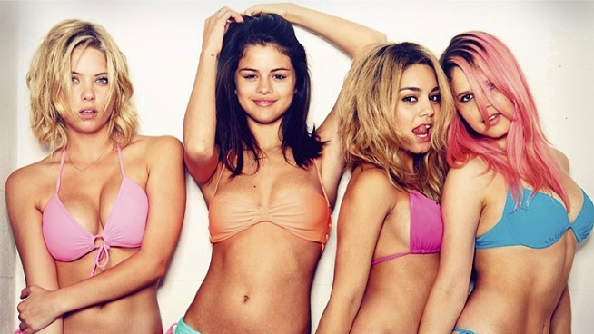 NBC's Mike Wilber talks with Selena Gomez and the cast of the new bad girls gone wild film