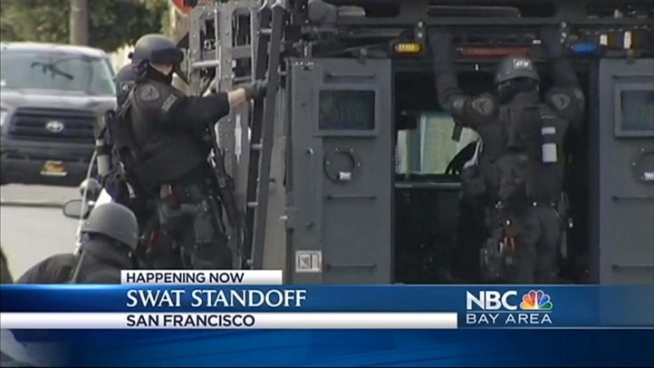 SF police arrest two after morning standoff in front of marijuana grow house. Christie Smith reports.