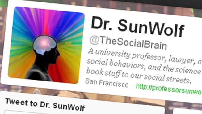 Dr. Sunwolf of Santa Clara University was named one of the top 30 scientists who tweet. NBC Bay Area's Scott Budman reports.