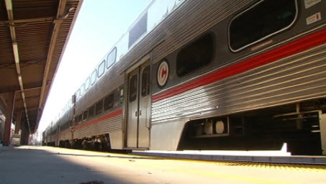 Passengers talk on Monday about why they are riding Caltrain's