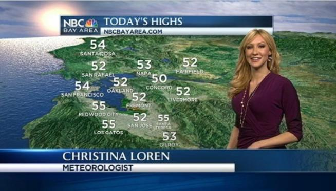 Meteorologist Christina Loren has your Bay Area weather forecast.