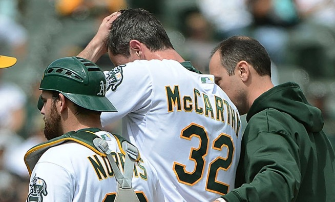 "A's Pitcher in ""Llife-Threatening'' Situation"