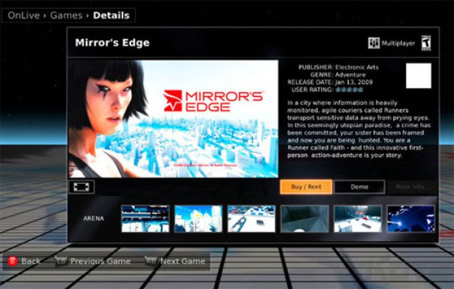 OnLive Game Streaming Service Ditches Dumb Subscription Fee