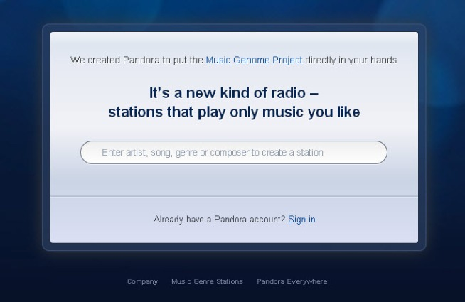 Pandora Eyes China, Goes HTML 5
