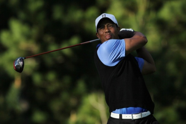 Tiger Woods Makes Quick SF Trip