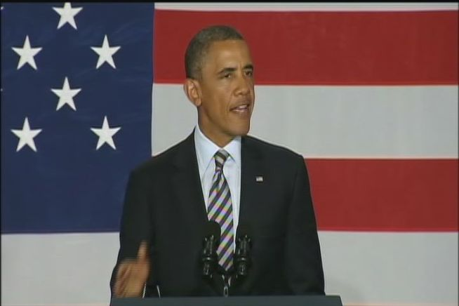President Obama's re-election campaign hoped to raise more than $2 million at two fundraisers Monday night. He made stops in Stamford and Westport.  And before he even left, jets were forced to scramble when two planes flew into restricted space.