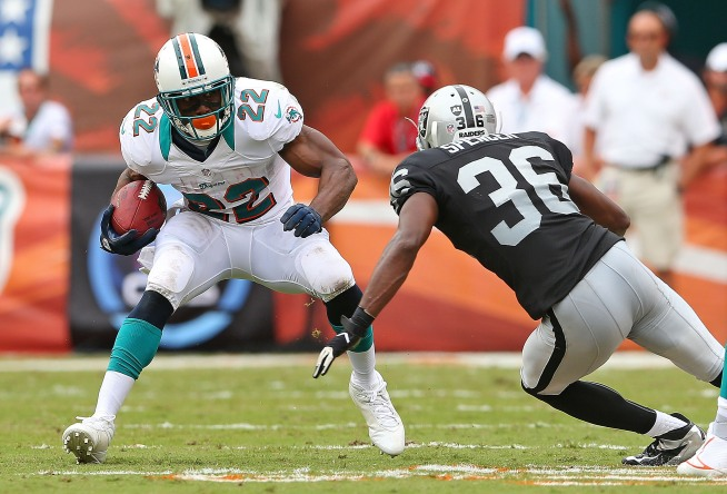 Raiders Trampled by Dolphins
