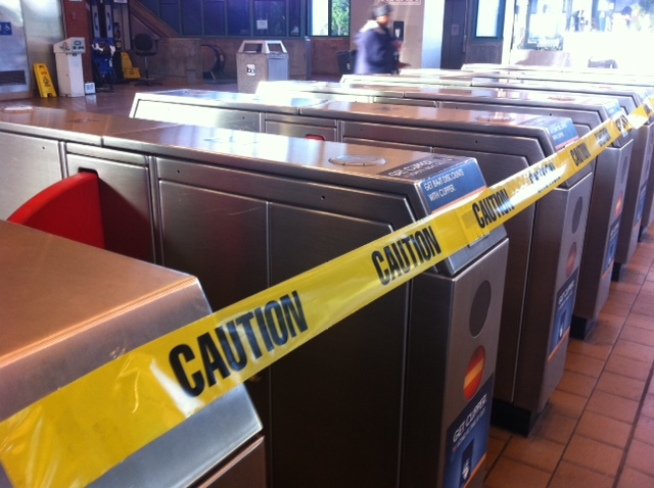 Human Excrement Shuts Down BART Escalators