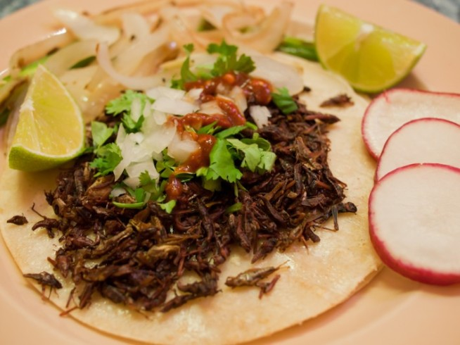 Mouth-Watering Grasshopper Tacos Hop to the Mission