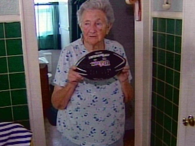 89-Year-Old Steals Football