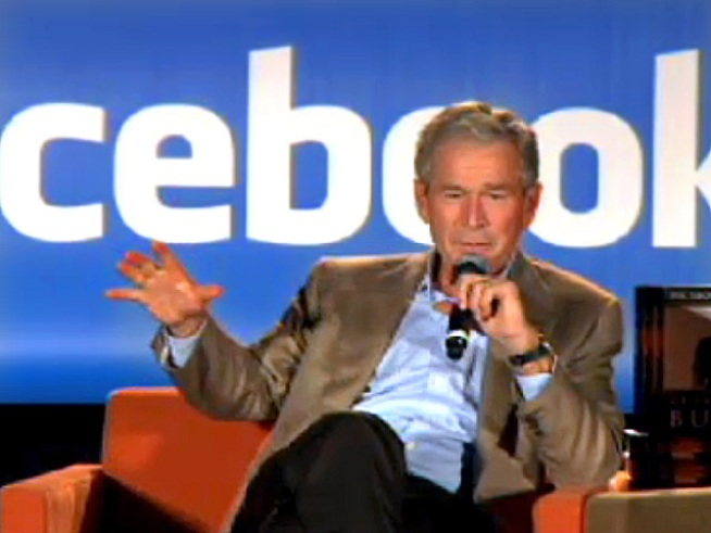 "George W. Bush Loves the ""Facebooks"""