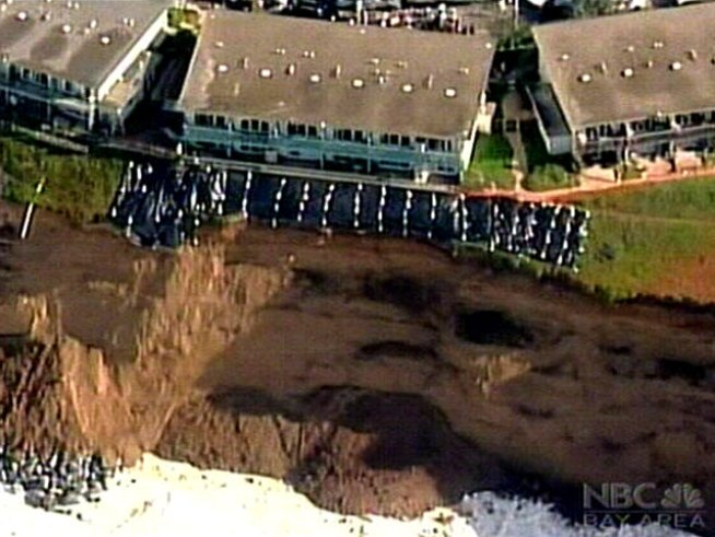 Crumbling Cliff Threatens Pacifica Apartments
