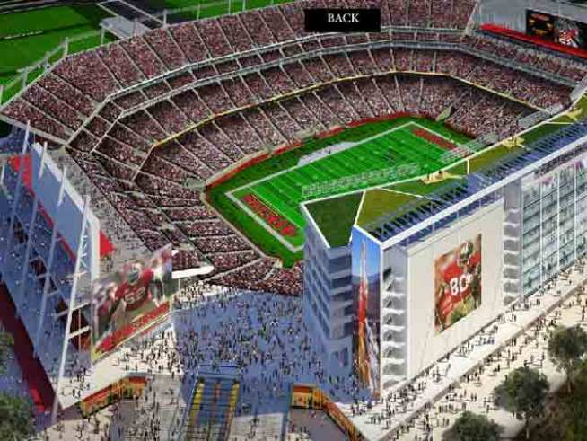 Raw Video: 49ers Set up Stadium Mock Up