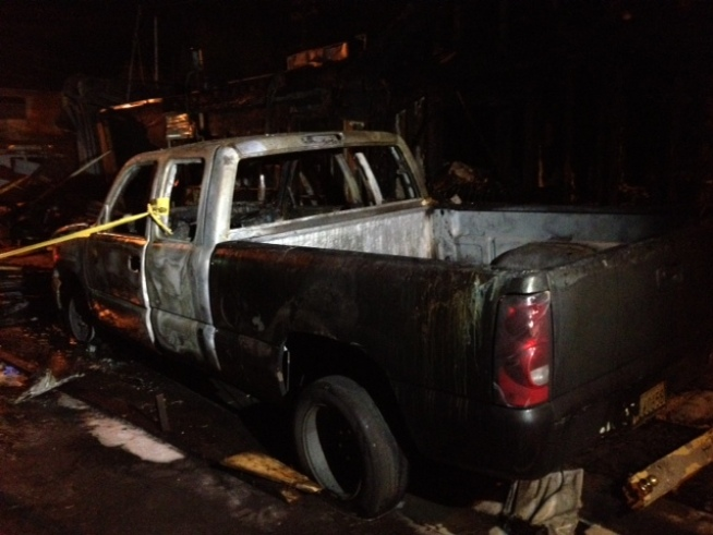An early morning truck fire on Wednesday ended up igniting an East Oakland commercial building and sending a security guard to the hospital. Christie Smith reports.