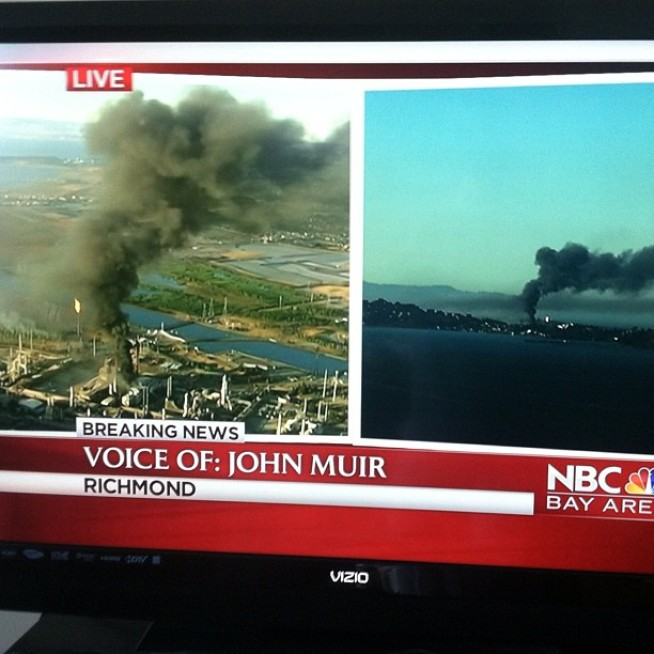 Pollution From Chevron Refinery Fire Escaped Air Meausurement Devices