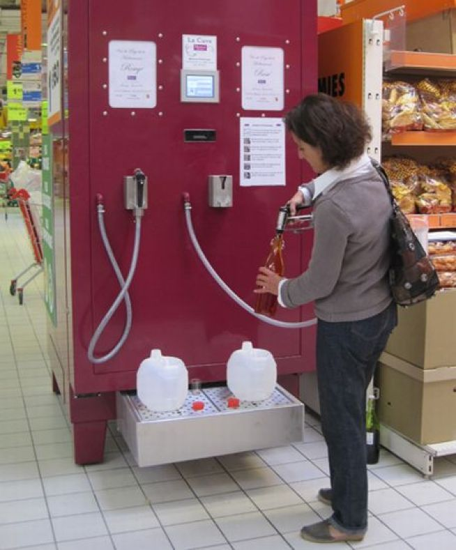 Gas Station Style Wine Pumps Coming to a Supermarket Near You
