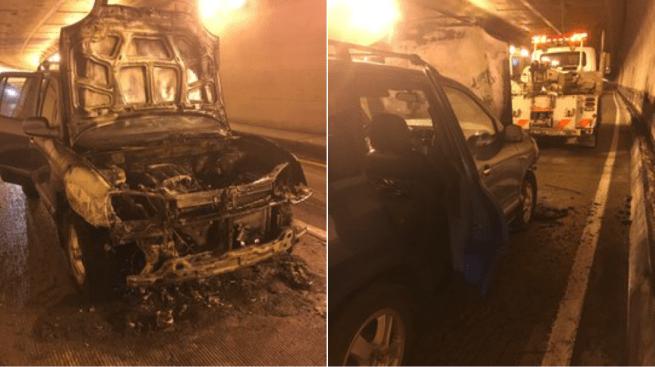 SUV Catches Fire Inside Caldecott Tunnel