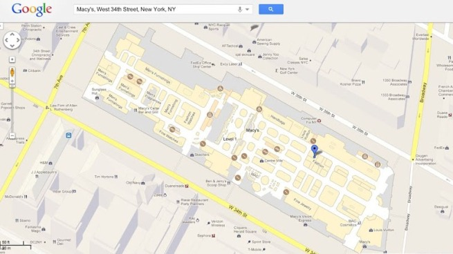 Google Maps Helps With Holiday Shopping
