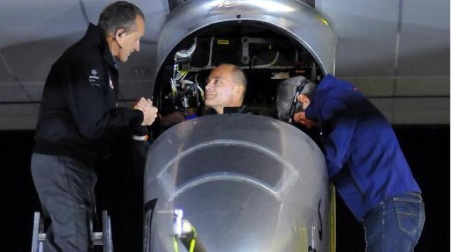 Solar-Powered Plane Lands Near Washington