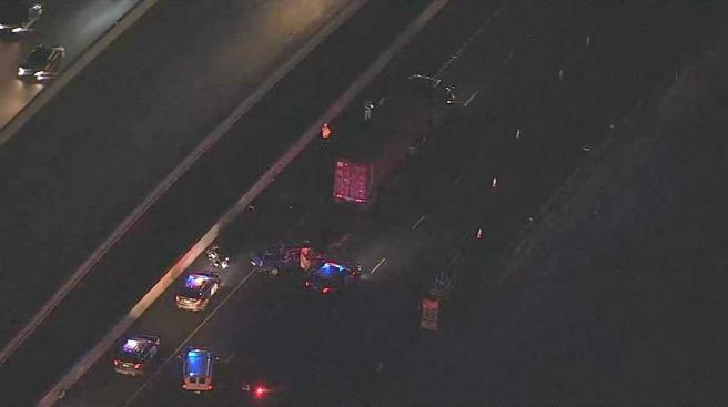 Man Dies After Pickup Crashes Into Big-Rig on I-580 in Eastern Alameda County
