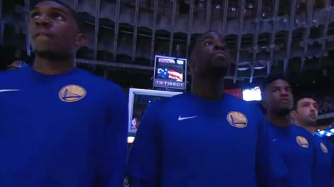Warriors Athletes Stand for the Anthem While Denver Nuggets Protest by Linking Arms
