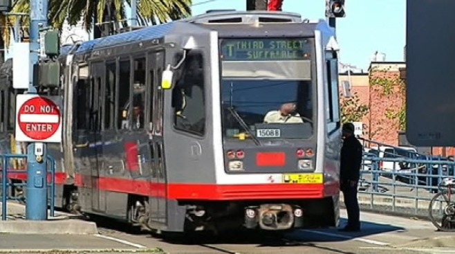 Muni Crash With Semi Suspends Service in Bay View District