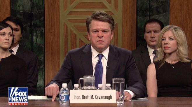 'SNL' Taps Matt Damon for a Raging Kavanaugh, Kanye Performs