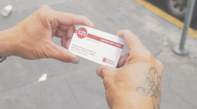 Crowdfunding Site HandUp Creates Gift Cards for Homeless