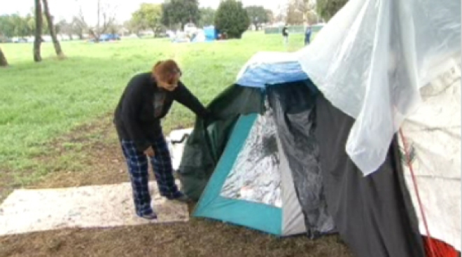 San Jose Homeless Campers Evicted
