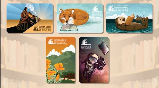 Contra Costa County Library Unveils New Library Card Designs