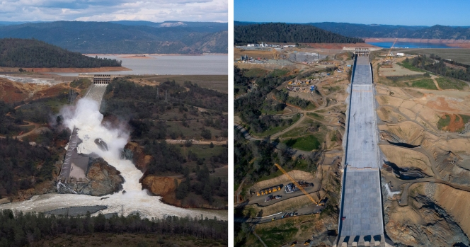 [LA GALLERY Updated 1/5/2018] Photos: What It Takes to Repair a Damaged Spillway at the Nation's Tallest Dam