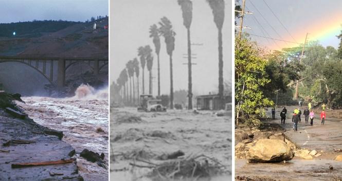 List: Historic California Winter Storms, Devastating Floods
