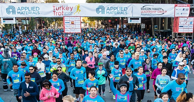 Applied Materials Thanksgiving Turkey Trot in Silicon Valley