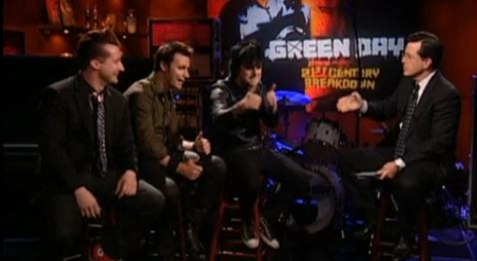 Green Day Covers Colbert