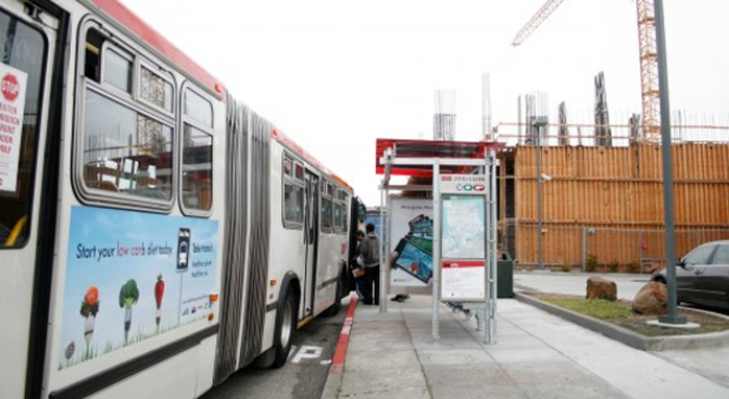 Muni Hopes Pretty New Bus Stop Is Distracting