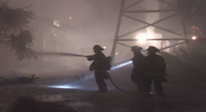 Fire Destroys Several Buildings in Santa Rosa