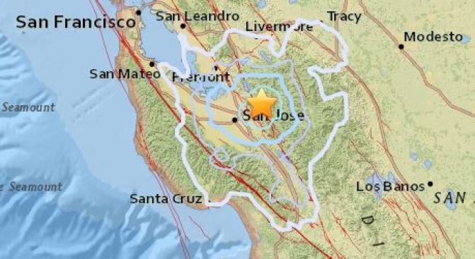 Multiple Earthquakes Shake San Jose Area Tuesday Night