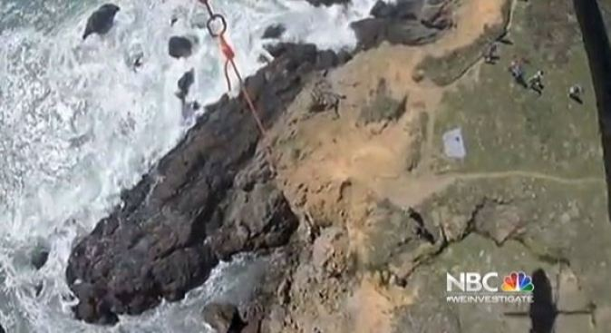Copter Plucks Stranded Dog from California Cliff