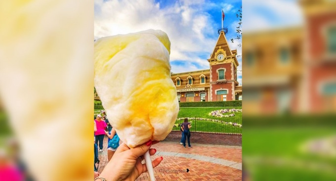 New: Disneyland Resort Pineapple Cotton Candy