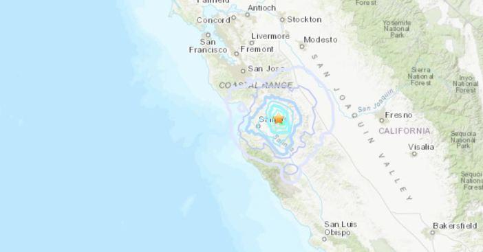 Usgs Reports M3 9 Earthquake Near Hollister California Nbc Bay Area