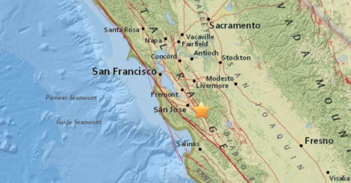 M3.2 Earthquake Reported Near Morgan Hill, California