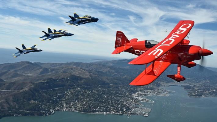 Blue Angels Zoom Over San Francisco
